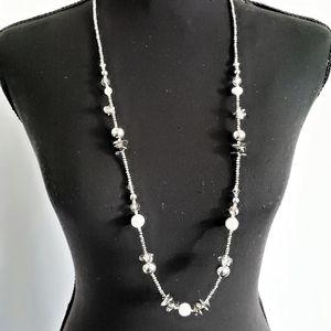 SAACHI silver statement necklace